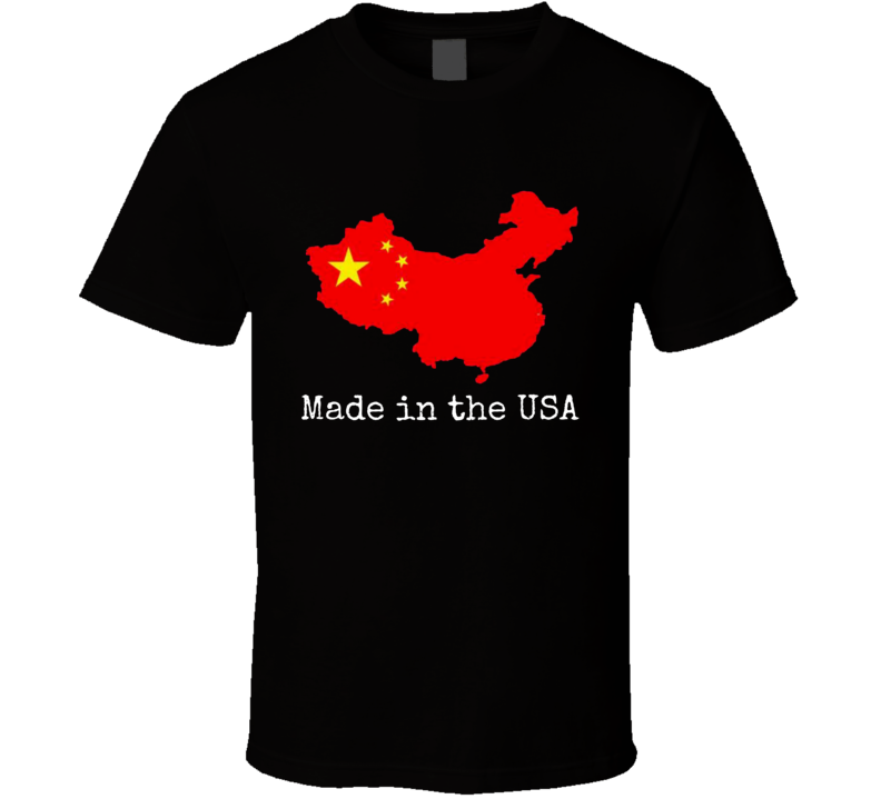 China Made in the USA Novelty T-Shirt  Unisex Funny Tee Shirt