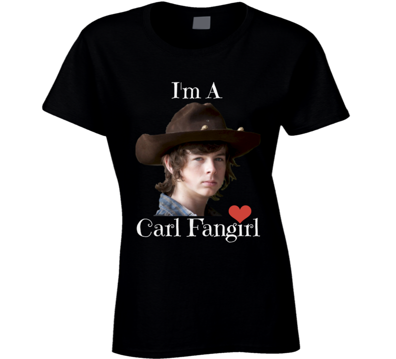 I'm A Carl Fangirl Womens Fitted T-Shirt Chandler Riggs Walking Dead Shirt