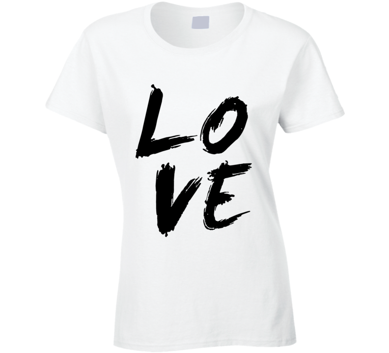 LOVE Ladies Novelty Fitted T-Shirt Fashion Glam Tee Shirt