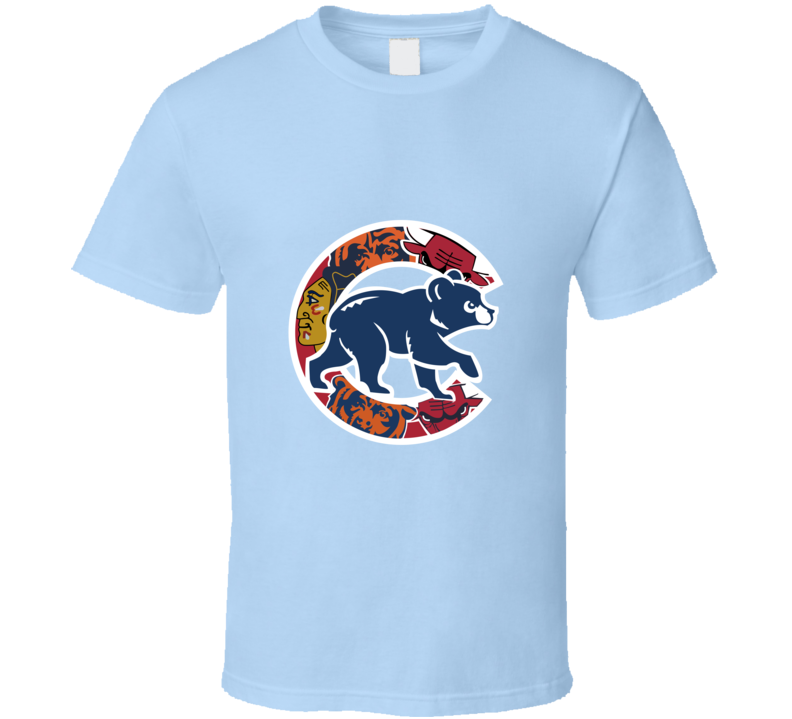Chicago Cubs T-Shirt Unisex Chicago Teams Bulls Bears Blackhawks Shirt!