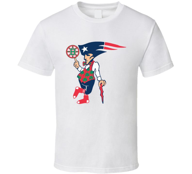 Boston New England Sports Teams T-Shirt Patriots Bruins Red Sox Unisex Tee