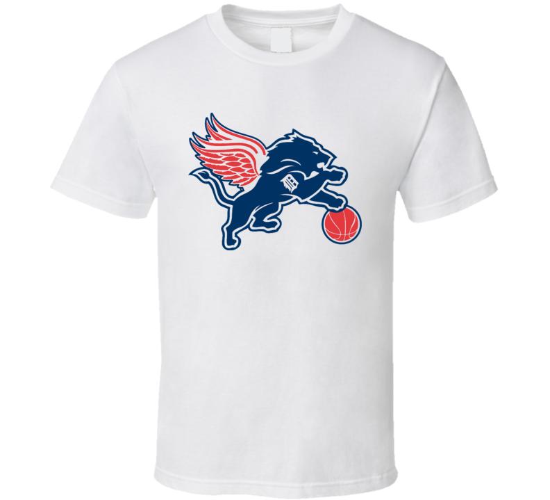 Detroit Sports Teams T-Shirt Lions Pistons RedWings Tigers Unisex Sports Tee