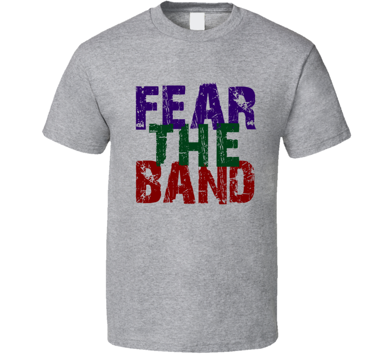 Fear The Band T-Shirt Unisex Fitted Fun Band T Shirt Novelty Rock Music Tee