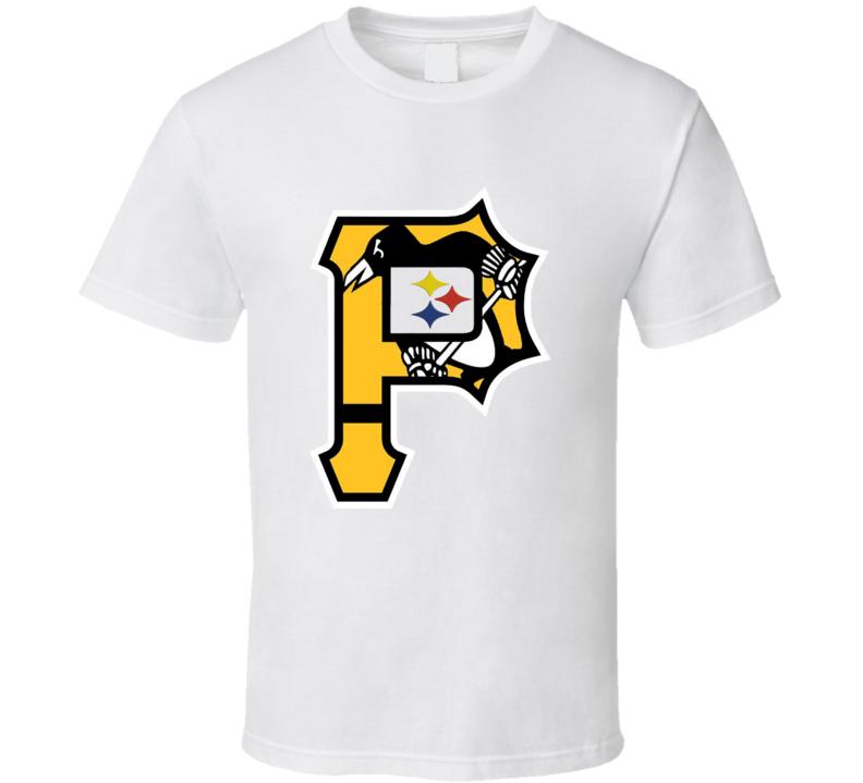 Pittsburgh Sports Teams T-Shirt Penguins Steelers Pirates Bucs Tee