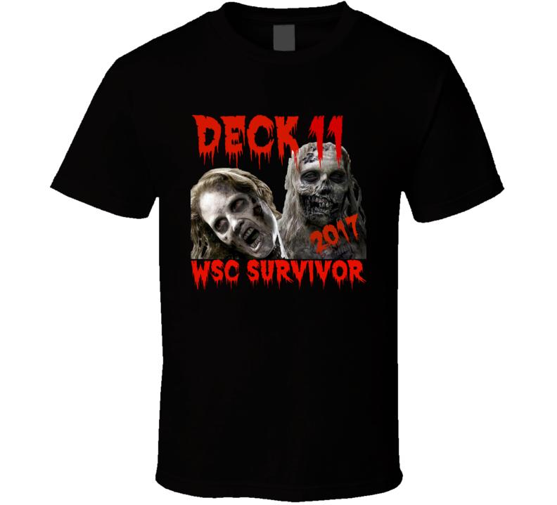 Walker Stalker Cruise 2017 Deck 11  T Shirt