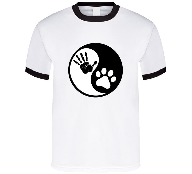 Hand Paw Yin Yang Pet Lover T-Shirt Unisex Fashion Glam Gift Novelty Tee