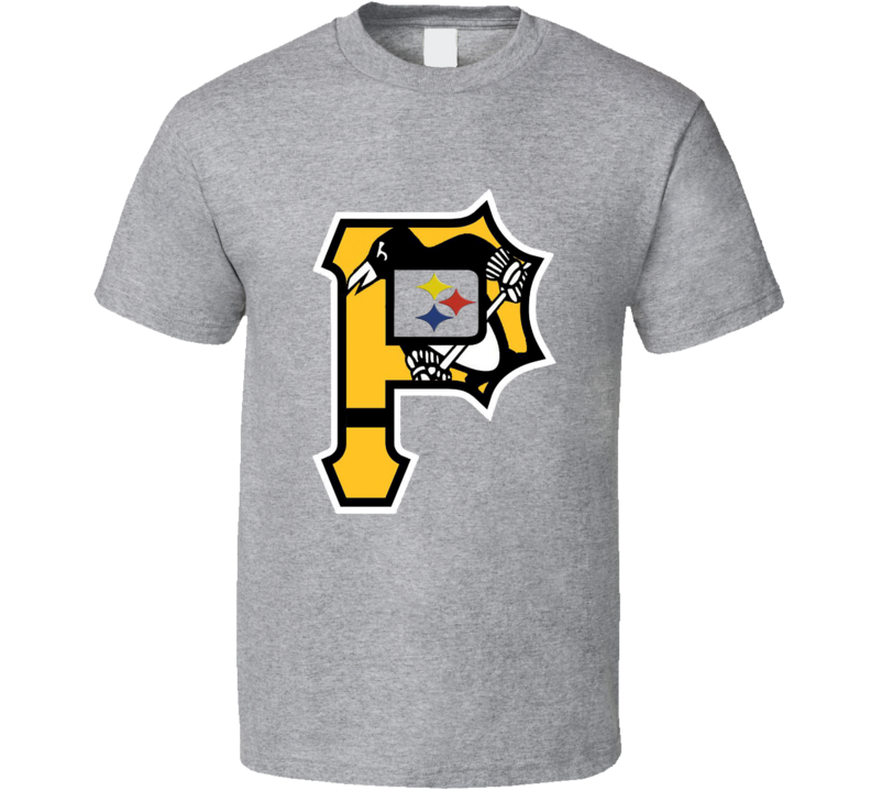 Pittsburgh Sports Teams T-Shirt Penguins Steelers Pirates Bucs Unisex Tee