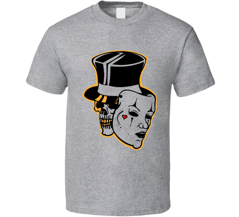 Fancy Skull and Mask T-Shirt Glam Theater Unisex Fashion Novelty Tee