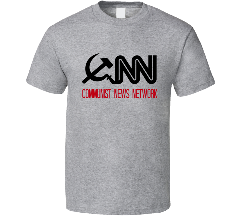 CNN Communist News Network T-Shirt Fake News Media Novelty Tee