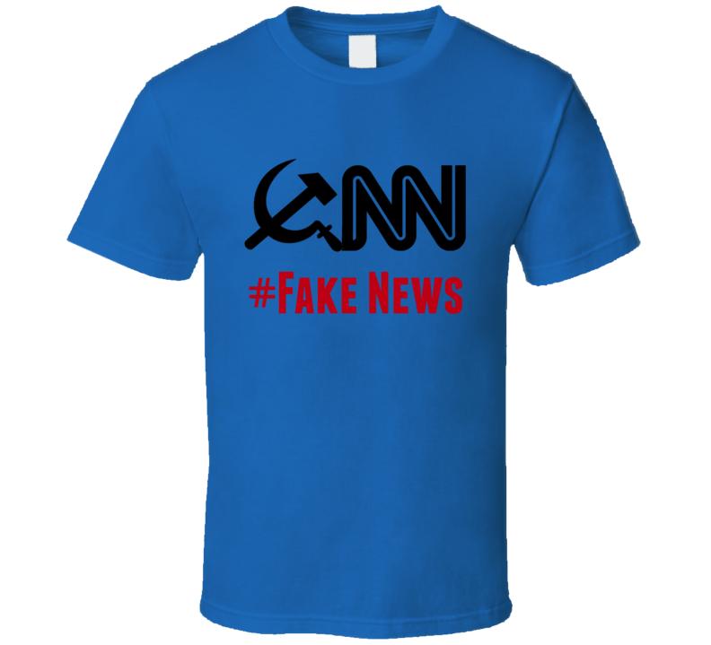 CNN #Fake News T-Shirt Novelty Fake News Media Clothing Fake News Tee