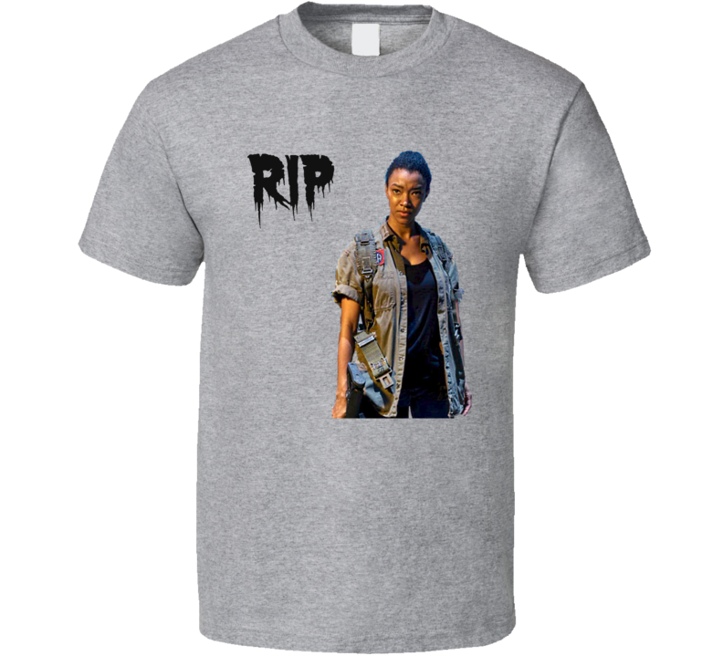 Sasha RIP Walking Dead T-Shirt Unisex Sonequa Martin-Green Novelty Tee Gift New