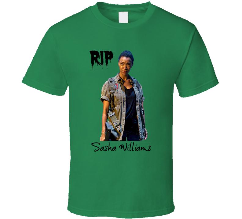 Sasha Williams RIP Walking Dead T-Shirt Sonequa Martin-Green Novelty Tee Gift