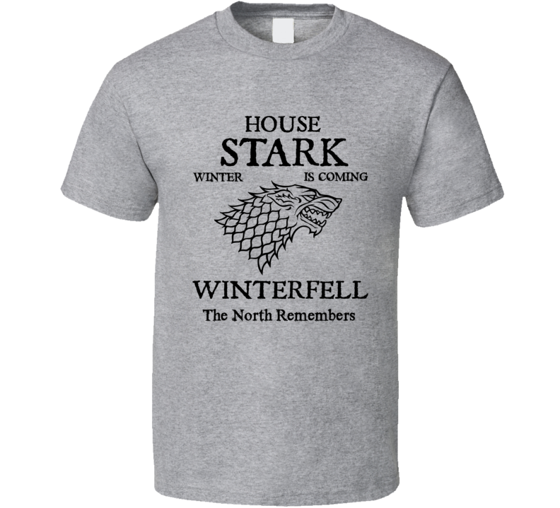 House Stark Game Of Thrones T-Shirt Winter Is Coming Novelty Clothing Tee