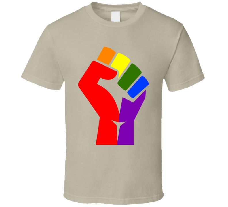 Rainbow Fist Of Love T-Shirt LGBTQ Social Justice Civil Rights Activism Shirt