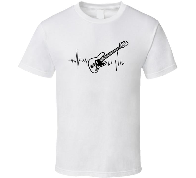 Bass Guitar Heartbeat Music Lover T-Shirt Novelty Rock Fashion Glam Gift T Shirt