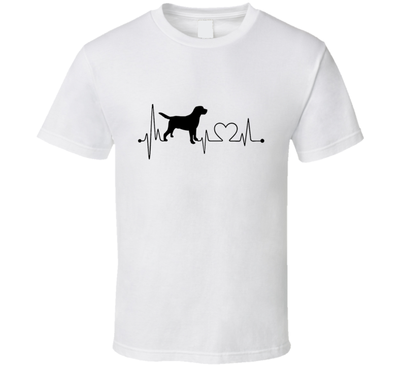 Dog Heartbeat T-Shirt Loving Canine Pet Owner Novelty Gift Fashion Tee Shirt