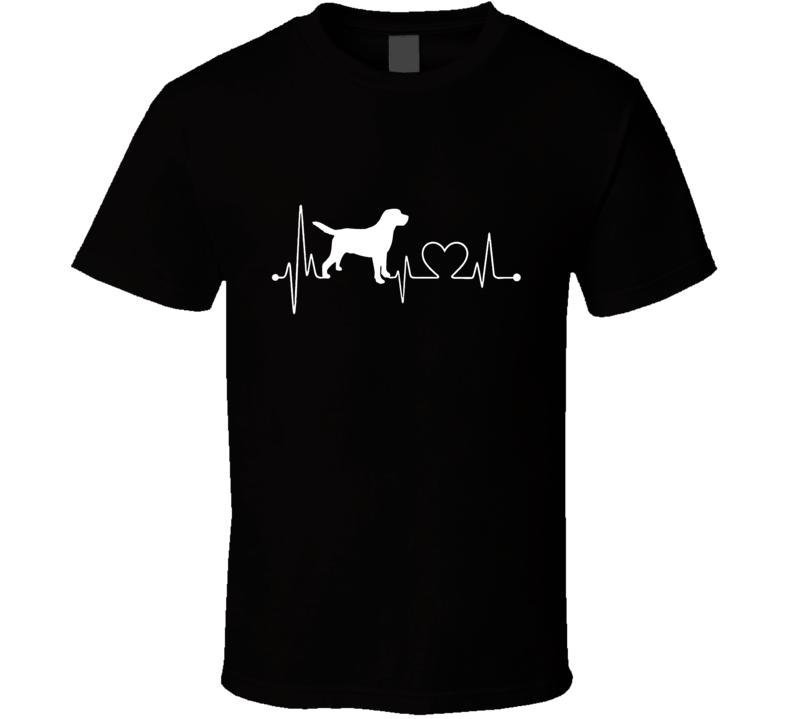 Dog Heartbeat T-Shirt Loving  Pet Owner Canine Novelty Gift Fashion Tee Shirt