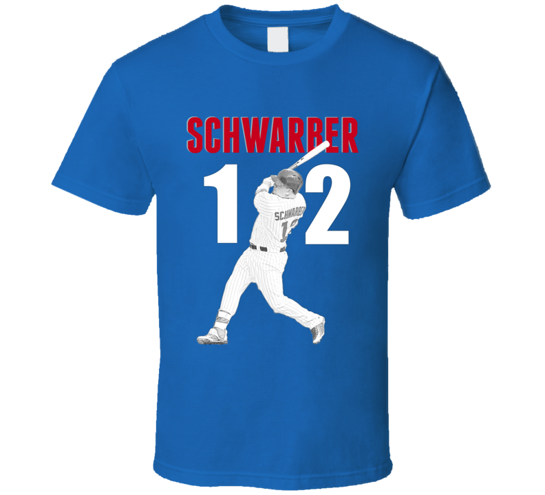 Kyle Schwarber T-shirt Novelty Chicago Cubs Sports Star Slugger Stencil T Shirt