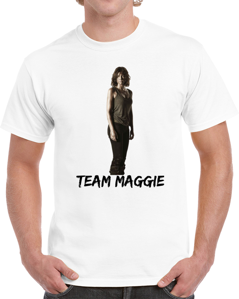 Team Maggie Walking Dead T Shirt Novelty Lauren Cohan Fashion Glam Tee
