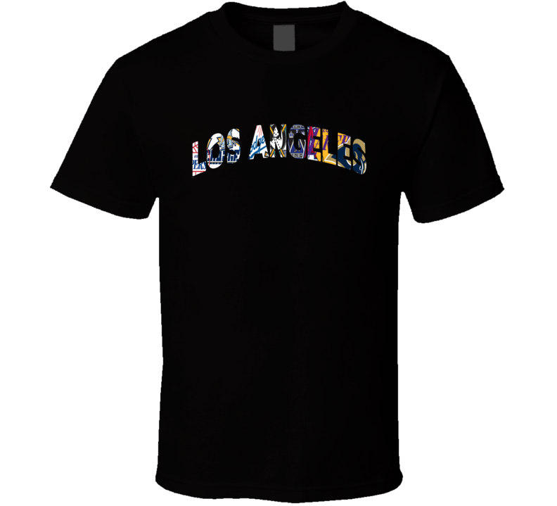 Los Angeles Teams T Shirt Rams Lakers Dodgers Clippers Angels Kings Sports