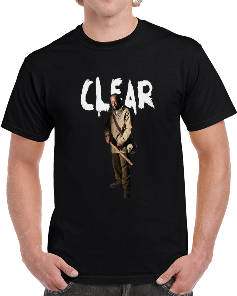 Morgan Jones Clear The Walking Dead Cool Novelty T-Shirt Lennie James Fashion Tee