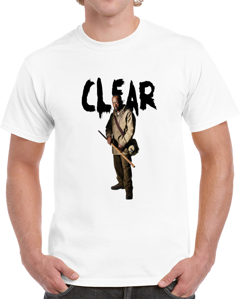 Morgan Jones Clear The Walking Dead Cool T-Shirt Lennie James Novelty Zombie Tee