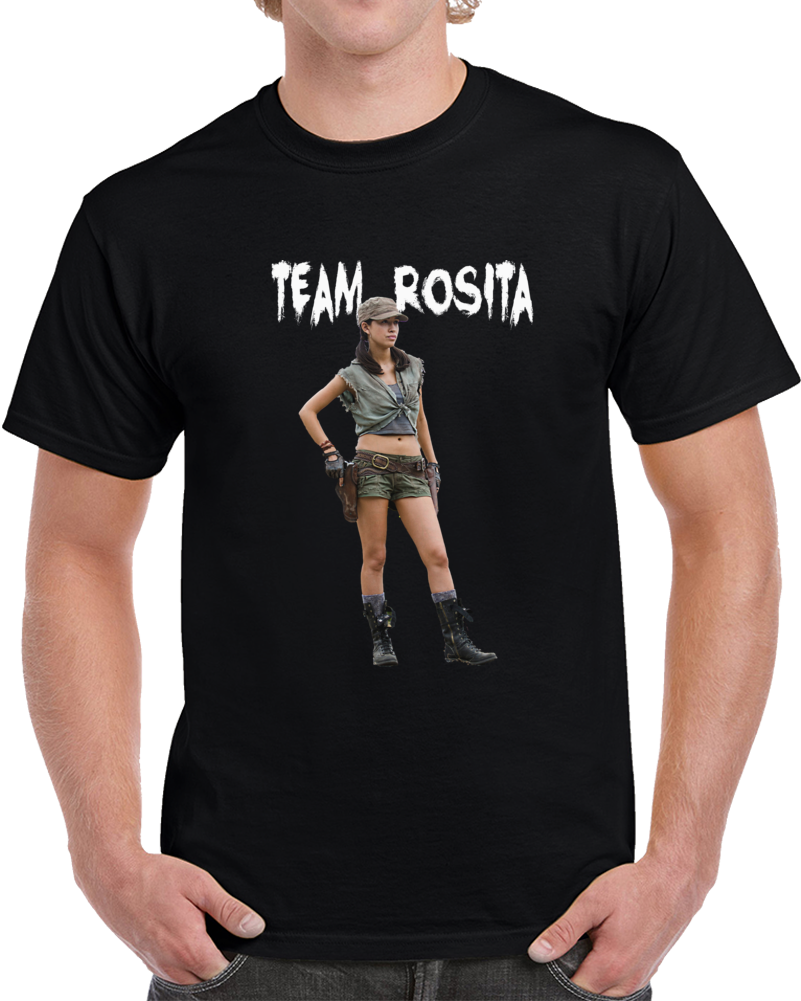 Team Rosita, The Walking Dead T-shirt, Christian Serratos, Novelty Gift, Amc, Tv, Zombie T, T-Shirts, T Shirt, Novelty Tees, Gift, t shirt design, custom t shirt, t shirt maker, t shirt dress, cheap t shirts, make t shirts, t shirt printer, t-shirt, tshir