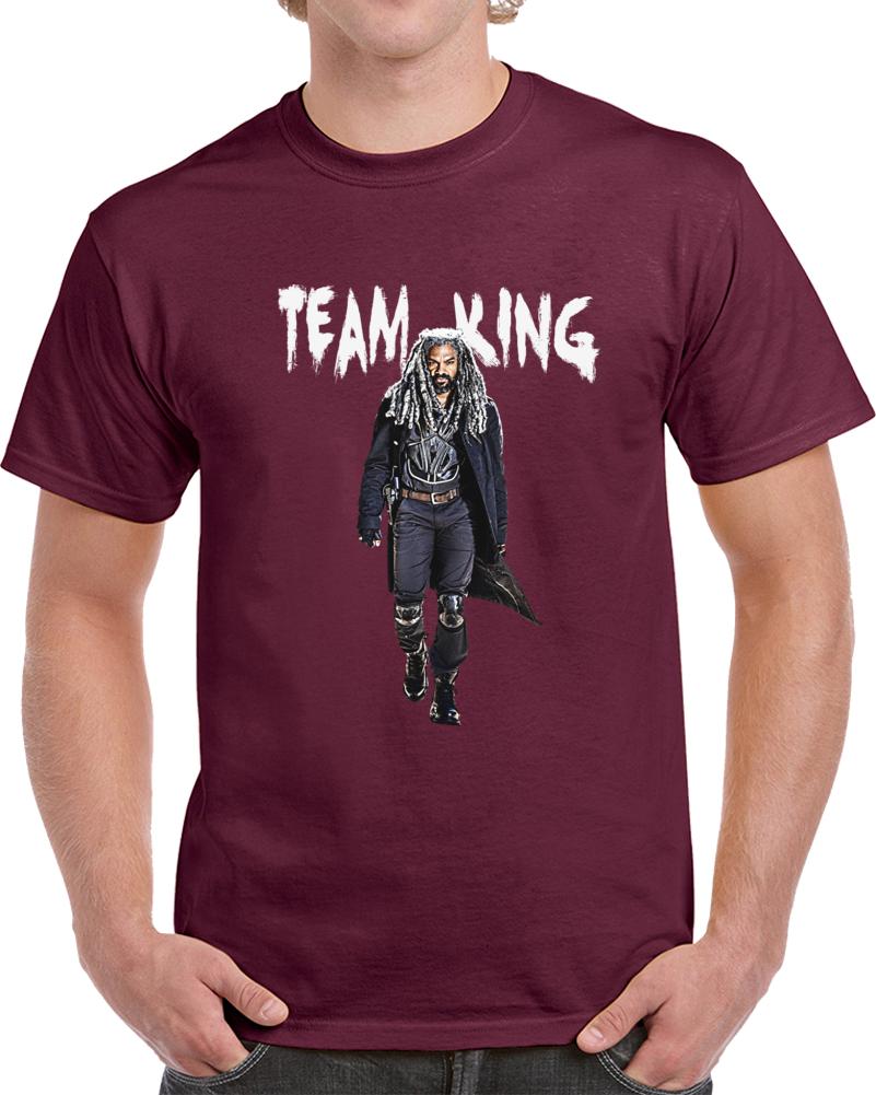 Team King Ezekiel The Walking Dead T-Shirt Khary Payton Amc Zombie Tv Novelty T
