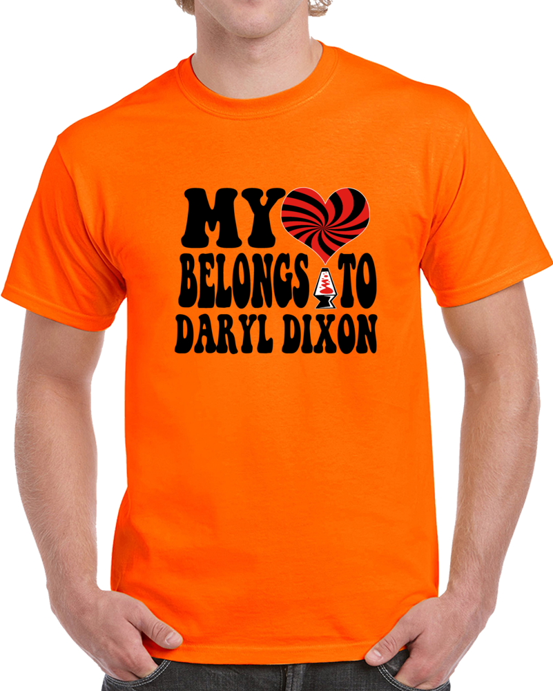 My Heart Belongs To Daryl Dixon T-Shirt Novelty Walking Dead Tee (Customizable)