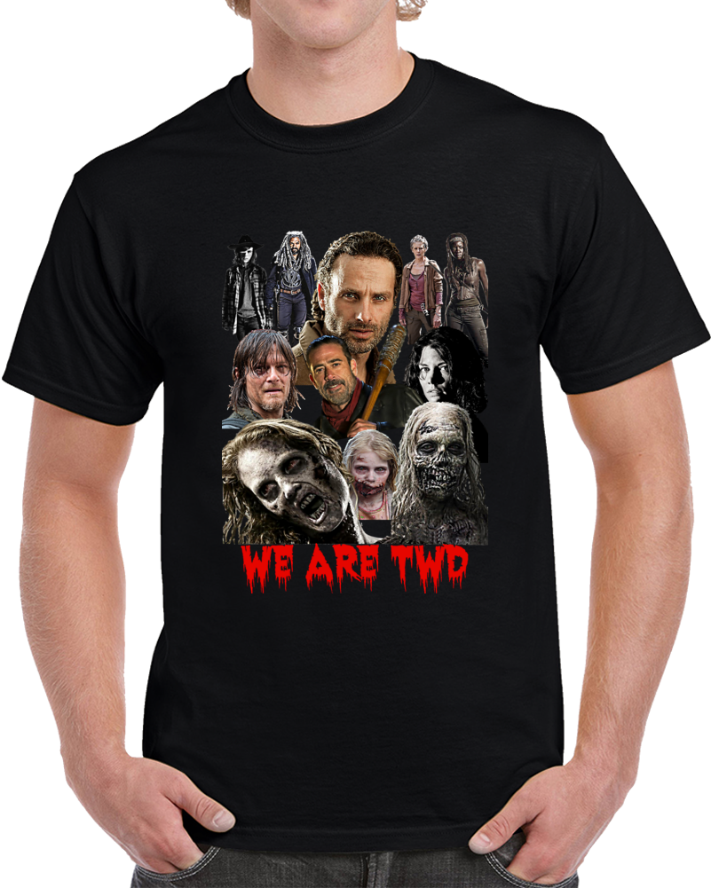 We Are Twd T-Shirt The Walking Dead Amc TV Show Collage Gift Novelty Zombie Tee