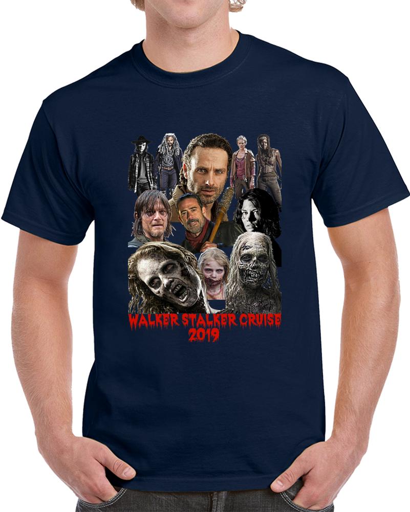 Walker Stalker Cruise 2019 T-Shirt The Walking Dead Amc TV Show Collage Zombie T