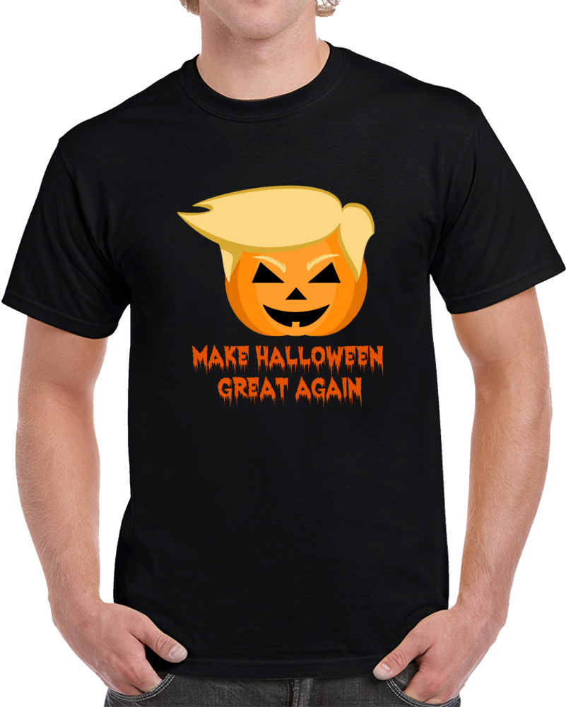 Make Halloween Great Again T-Shirt Unisex Novelty Funny Trumpkin Holiday Tee Top