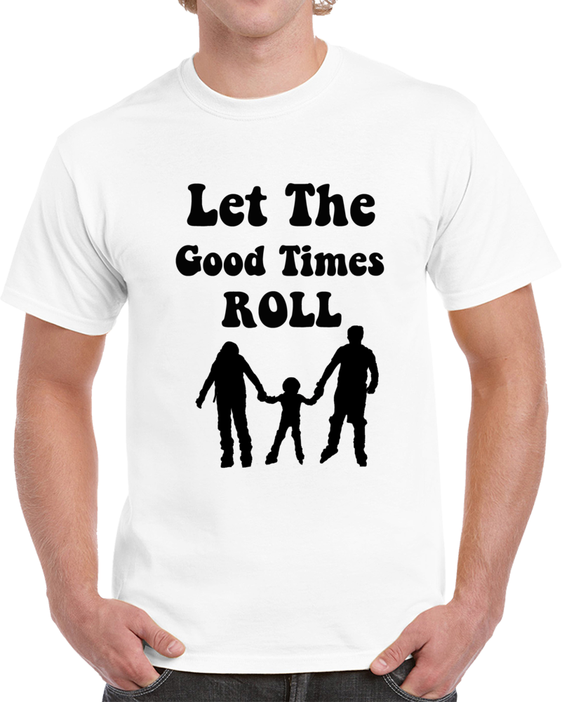 Let The Good Times Roll Cool Family Skaters T Shirt In-line Skating Novelty Tee