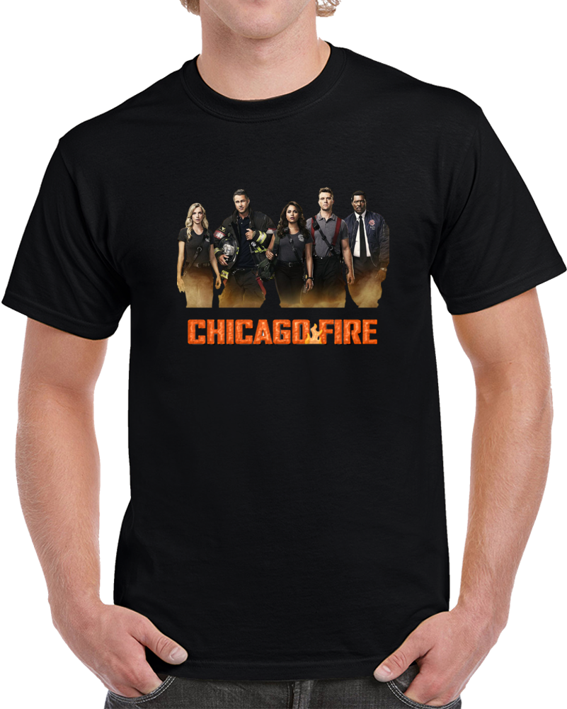 Chicago Fire Shirt Cool Hit Drama TV Show Taylor Kinney Novelty Unisex Tee Top