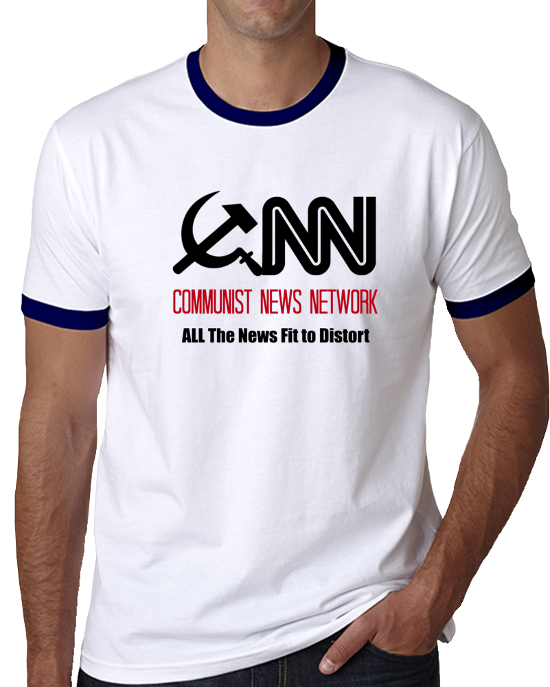 Cnn Communist News Network T Shirt Fake News Media Novelty Clothing To Maga Tee
