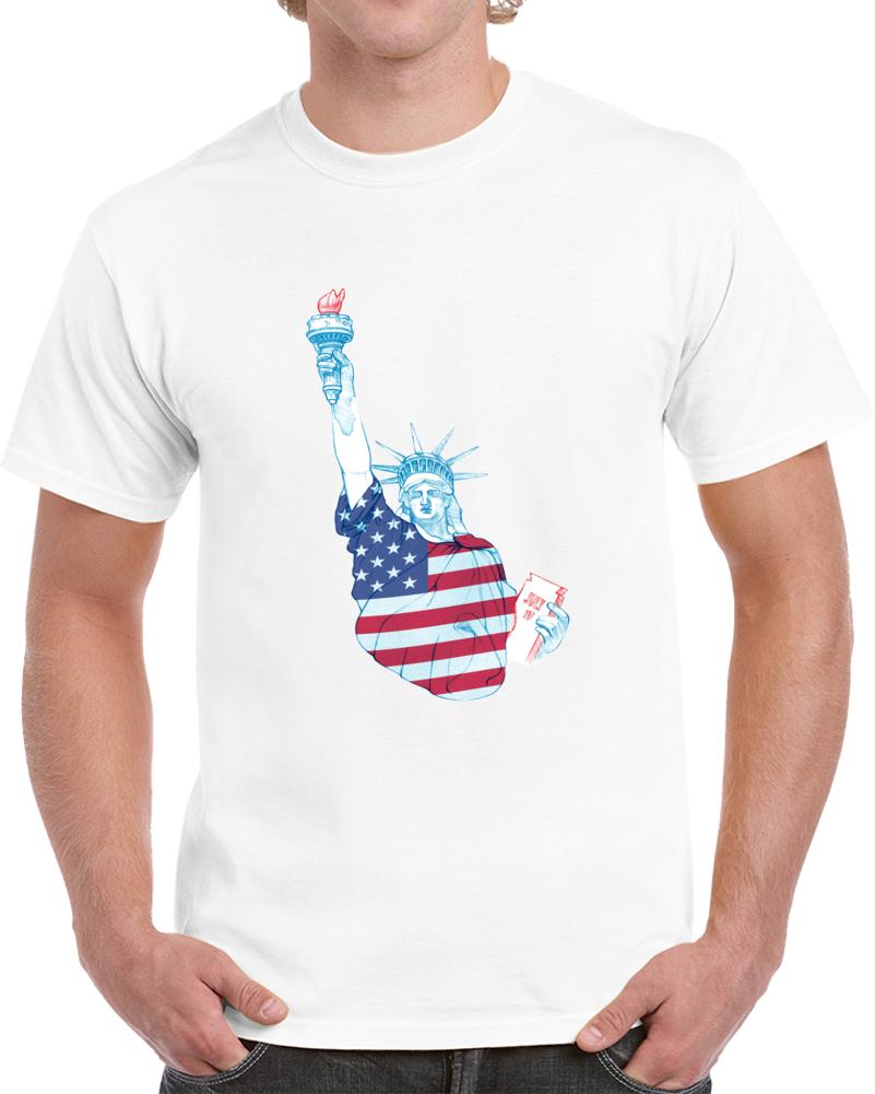 Statue Of Liberty American Flag T Shirt Cool Patriotic Tee Usa Pride Top TShirt
