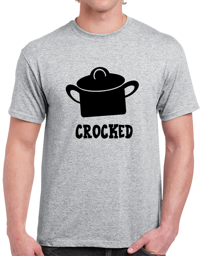 Crocked Funny Drinking T-Shirt - Sarcastic Party Tee - Hilarious Bee T Shirt