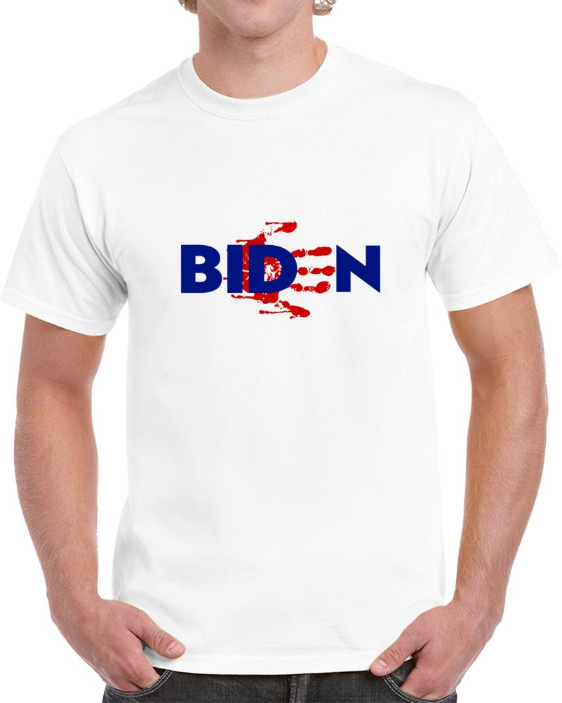 Biden Blood On Hands Political T Shirt - Sleepy Joe Novely Tee - Impeach Him  Now T Shirt