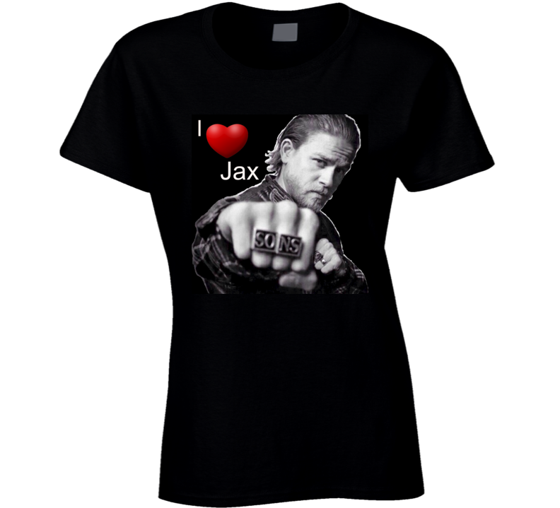 I Love Jax T Shirt Novelty SOA Charlie Hunnan Gift Tee