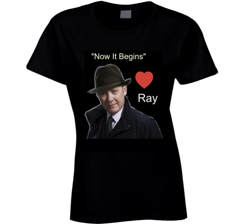 Now It Begins Ray Reddington T Shirt Novelty The Blacklist Gift Tee