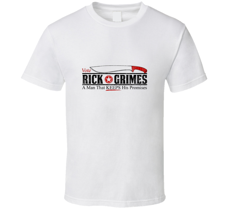 Vote Rick Grimes T Shirt Walking Dead TV Show Novelty Gift Tee