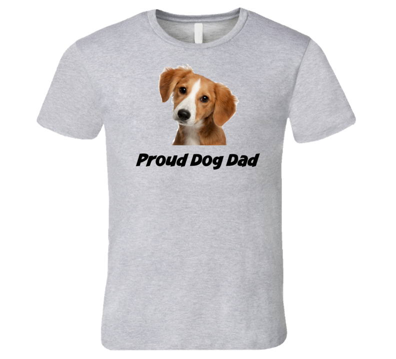 Proud Dog Dad Novelty Pet T-Shirt Men's Fitted Puppy Tee