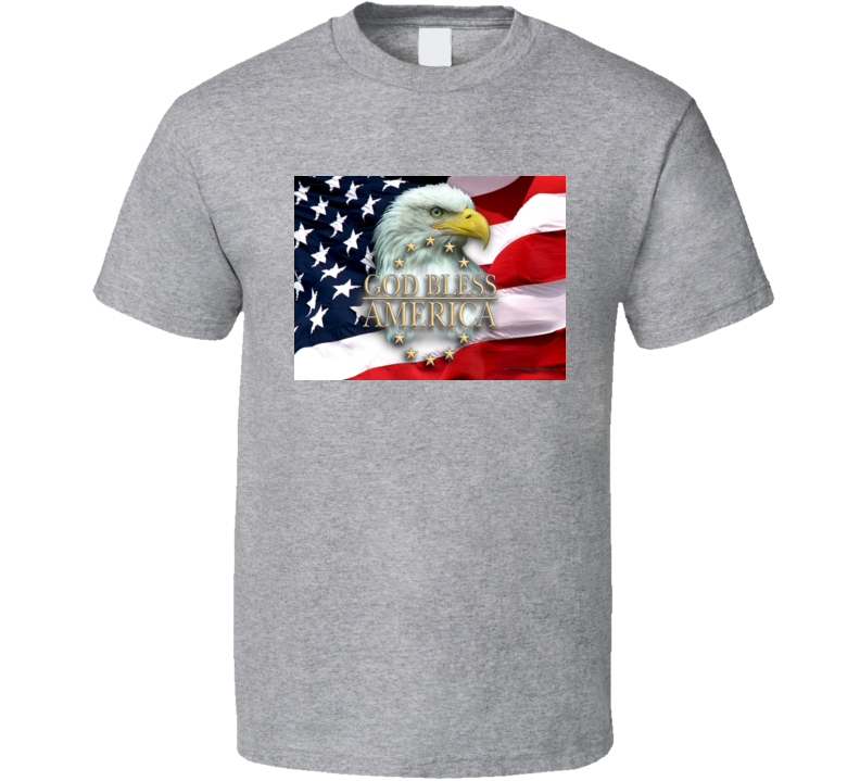 God Bless America Patriotic American Pride T-Shirt USA Flag Novelty Unisex New