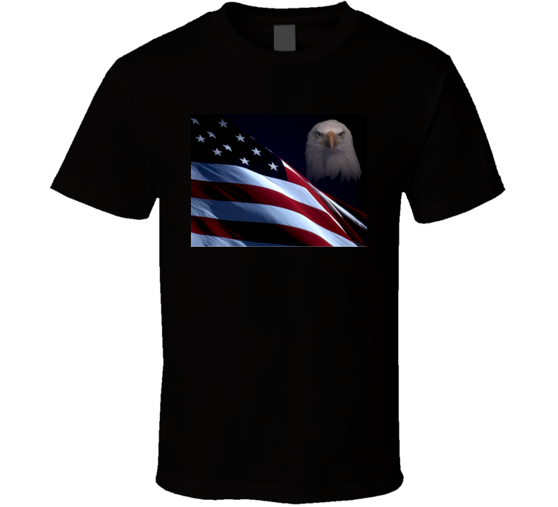 American Pride Patriotic USA Flag Eagle Novelty Unisex T-Shirt Tee