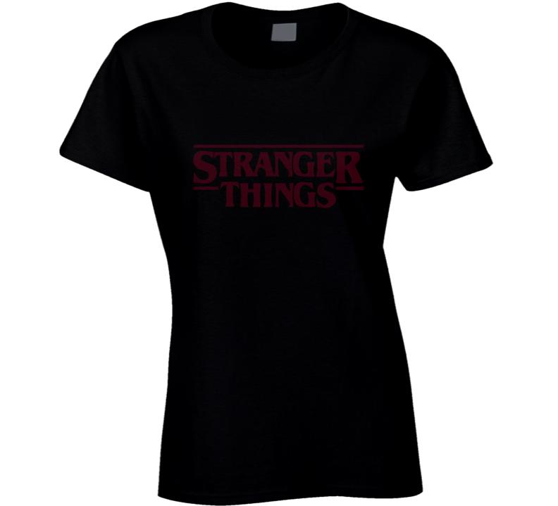Stranger Things Netflix Logo Vintage TV Show T Shirt