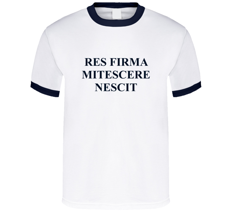 American Flyers Res Firma Mitescere Nescit Movie Replica T Shirt