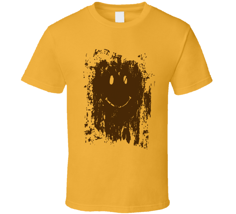 Muddy Smiley Face Forrest Gump Movie Replica T Shirt