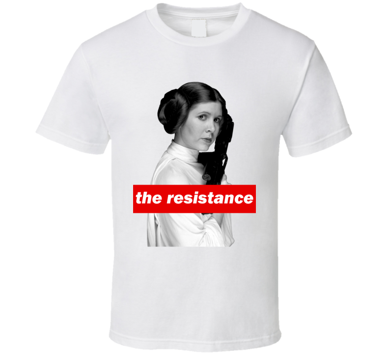 Carrie Fisher Leia Women's March A Woman's Place is in The Resistance Feminist T Shirt