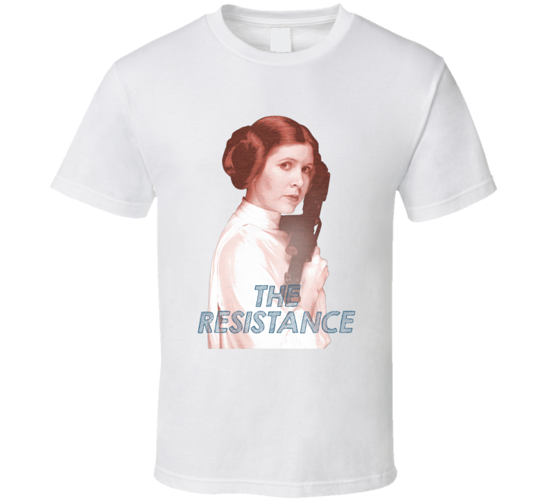 Carrie Fisher Leia Women's March Place in the Resistance Feminist T Shirt
