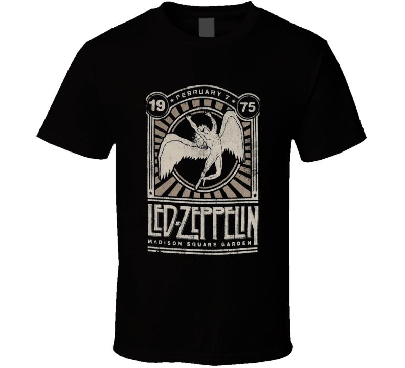 Zeppelin Classic Rock Band Symbols Vintage Worn Tour Music T Shirt